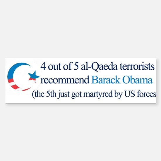 4 out of 5 Terrorists Bumper Bumper Bumper Sticker