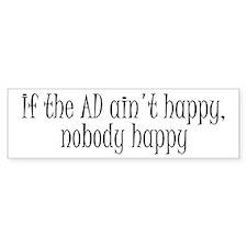 AD happy Bumper Bumper Sticker