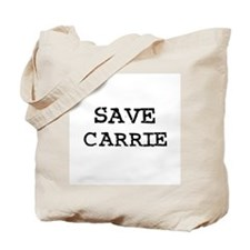 Save Carrie Tote Bag