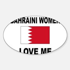 Bahraini Women Love Me Oval Decal