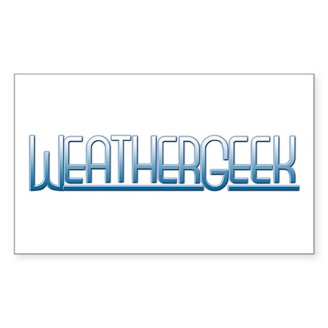 WeatherGeek Rectangle Sticker