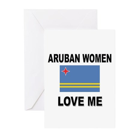 Aruban Women Love Me Greeting Cards (Pk of 10)