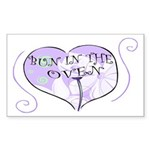 Bun In The Oven Rectangle Sticker