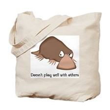 Doesn't Play Well with Others Tote Bag