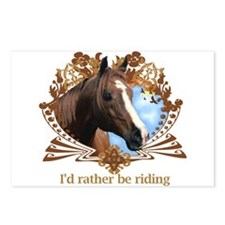 I'd Rather Be Riding Postcards (Package of 8)