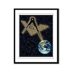 Symbol in the sky Framed Panel Print