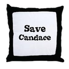 Save Candace Throw Pillow