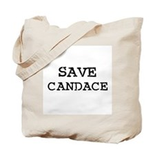Save Candace Tote Bag