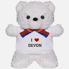 I Love DEVON Teddy Bear