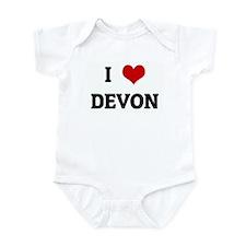 I Love DEVON Infant Bodysuit