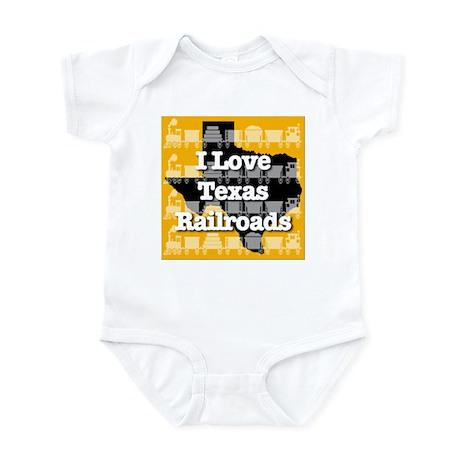 I Love Texas Railroads Infant Bodysuit