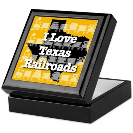 I Love Texas Railroads Keepsake Box