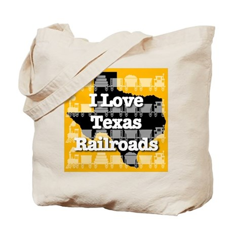 I Love Texas Railroads Tote Bag
