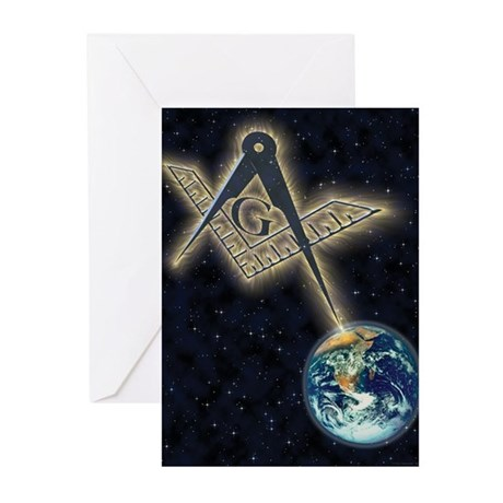 Masonic Sky Fire Greeting Cards (Pk of 10)