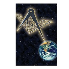 Masonic Sky Fire Postcards (Package of 8)