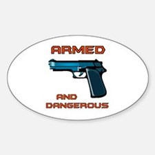 ARMED Oval Decal