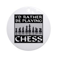 CHESS PLAYER Ornament (Round)