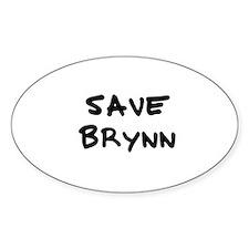 Save Brynn Oval Decal