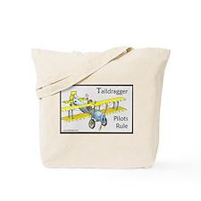 Taildragger Pilots Rule Tote Bag