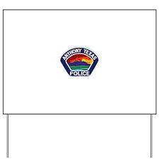 Anthony Police Yard Sign
