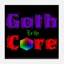 Goth to the Core Tile Coaster