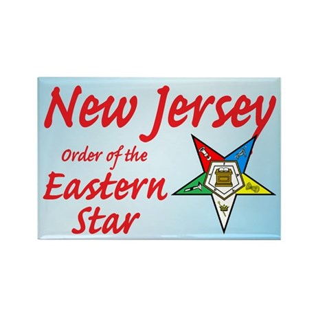 New Jersey Eastern Star Rectangle Magnet