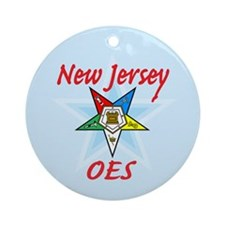 New Jersey Eastern Star Ornament (Round)