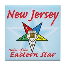 New Jersey Eastern Star Tile Coaster