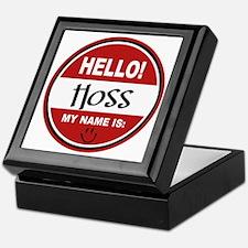 Hello My Name is Hoss Keepsake Box