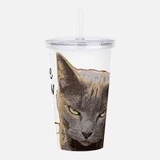Coffee Meow, Now Acrylic Double-wall Tumbler
