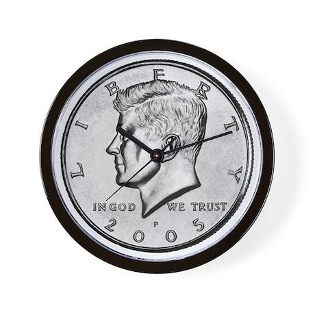 John F. Kennedy Half Dollar Wall Clock