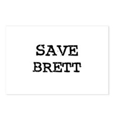 Save Brett Postcards (Package of 8)