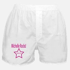 Michelle Rocks: Pink Boxer Shorts
