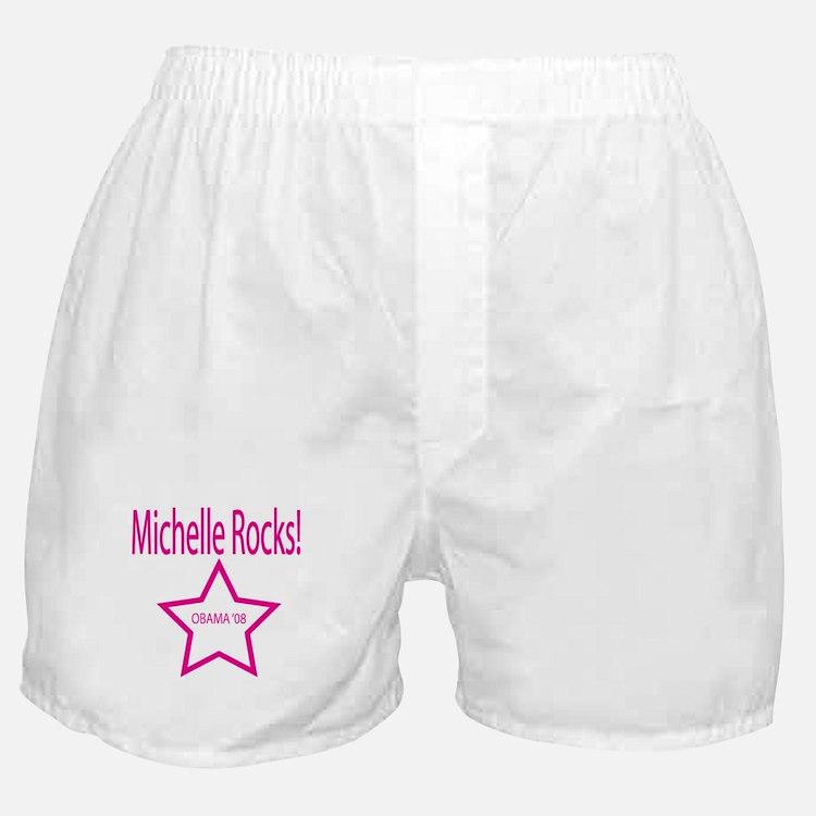 Michelle Rocks: Pink Boxer Shorts