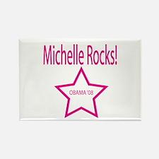 Michelle Rocks: Blue Rectangle Magnet