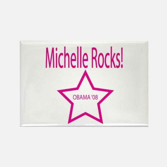 Michelle Rocks: Blue Rectangle Magnet (10 pack)
