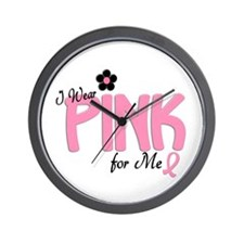 I Wear Pink For ME 14 Wall Clock