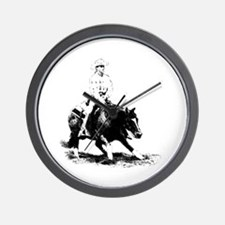 cutting horse Wall Clock