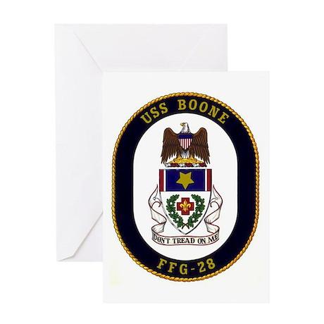 USS Boone FFG-28 Greeting Card