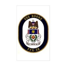 USS Boone FFG-28 Rectangle Decal