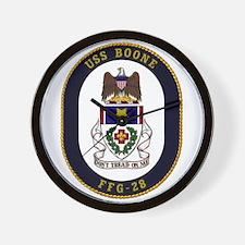 USS Boone FFG-28 Wall Clock