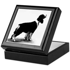 springer spaniel Keepsake Box