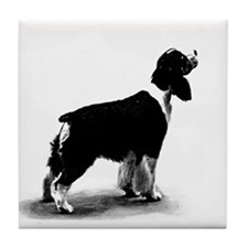 springer spaniel Tile Coaster