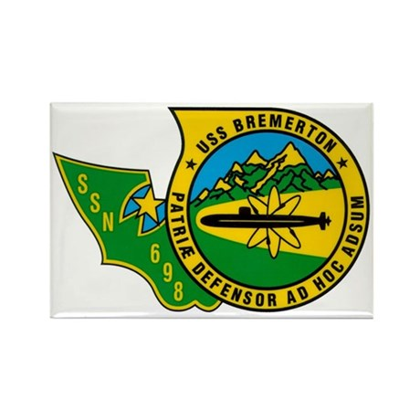 USS Bremerton SSN-698 Rectangle Magnet (100 pack)