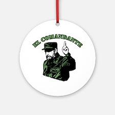Fidel Castro Ornament (Round)