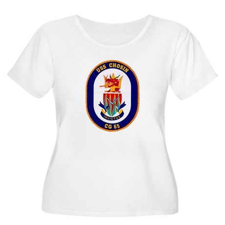 USS Chosin CG-65 Women's Plus Size Scoop Neck T-Sh