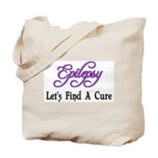 Epilepsy Let's Find Cure Tote Bag