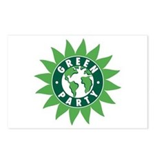 Green Party Logo (Sunflower/G Postcards (Package o