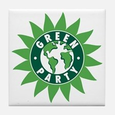 Green Party Logo (Sunflower/G Tile Coaster