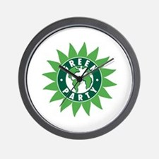 Green Party Logo (Sunflower/G Wall Clock